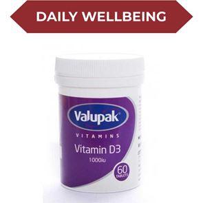 Valupak Vitamin D3 1000IU Tablets 60