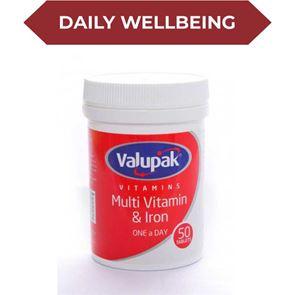 Valupak Multi Vitamin & Iron Tablets 50