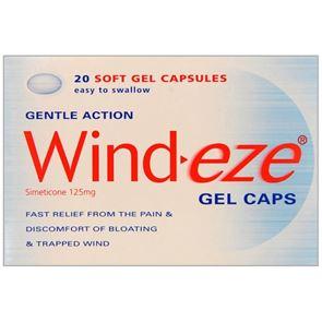 Wind-Eze (Simeticone) 125 mg soft gel capsules 20